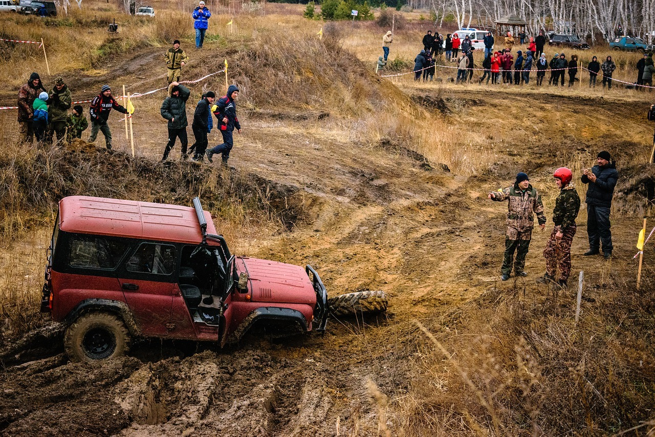 GET OUT OF MUD WITHOUT A WINCH