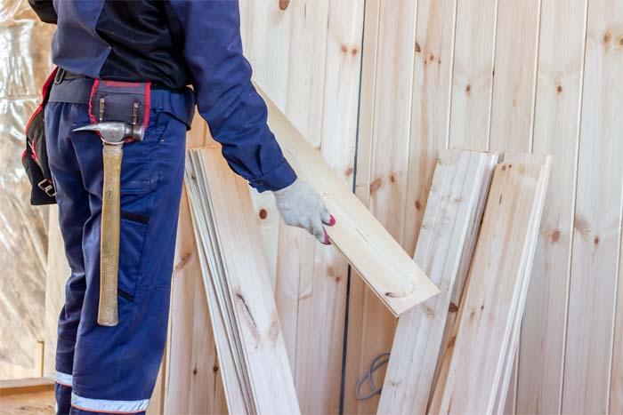 Repair wooden garage door