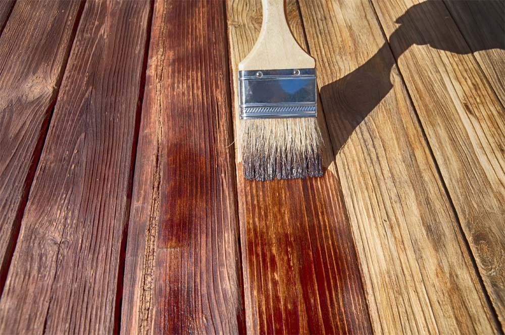 wooden burnish